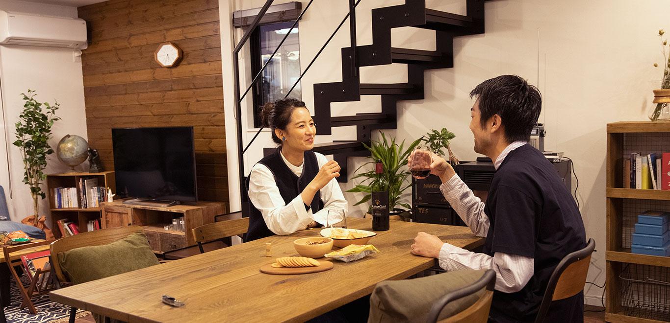 居心地の良いキッチンは、ついつい長居してしまう。