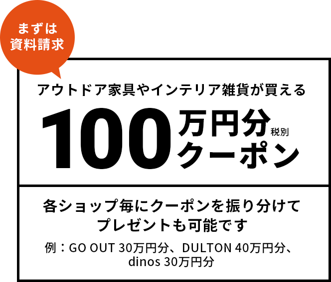 ご成約でもれなくもらえる100万円クーポン